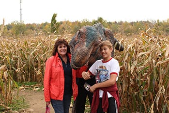 Dinosaurs in the Cornmaze
