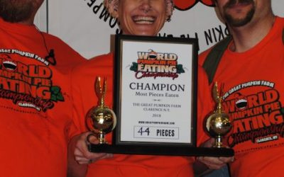 Molly Schuyler from Sacramento, CA won our annual Pie Eating Contest again this year by eating 44 pieces in 10 minutes.