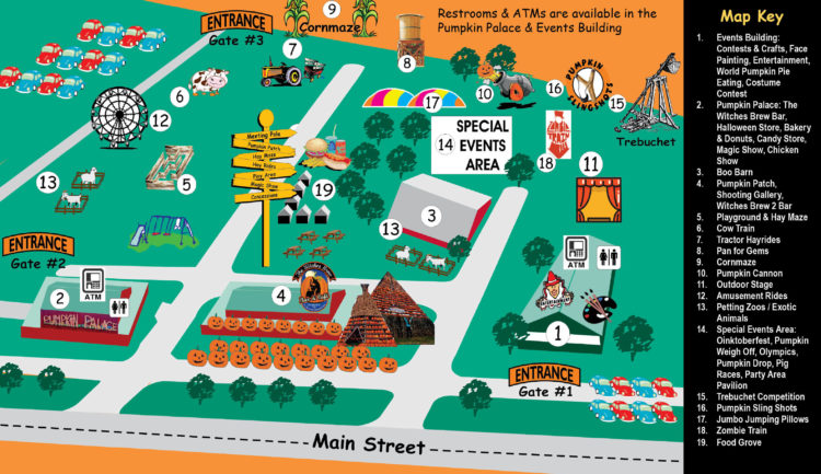 Map of the Great Pumpkin Farm