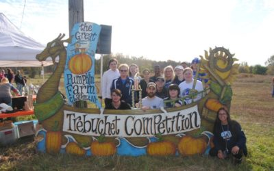The 14th annual Trebuchet Competition took place last weekend at the Great Pumpkin Farm in Clarence, NY.
