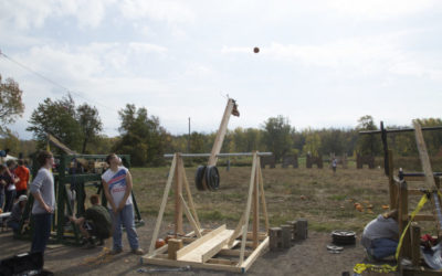 Area High School Teams to Compete This Weekend  in the 14th Annual Trebuchet Contest  at the Great Pumpkin Farm's Fall Festival
