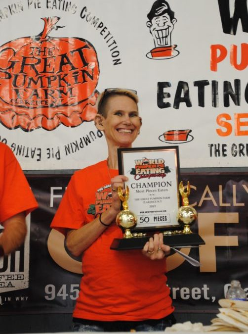 The 10th annual Hands-free World Pumpkin Pie Eating Contest was held on September 30th